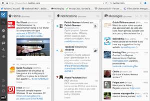 Tweetdeck permet une bonne organisation et visualisation pour la veille technologique