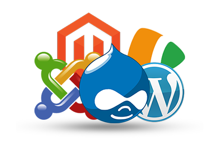 cms wordpress drupal joomla