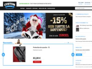 Création site e-commerce périgueux Custom Rider