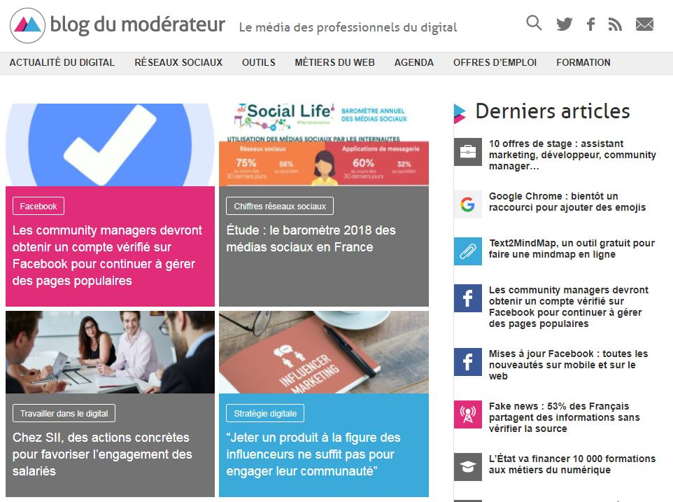 veille digital - blog du moderateur